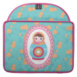 Cute Matryoshka Russian Nesting Doll and Roses Sleeves For MacBooks
