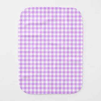 Cute Mauve Purple and White Gingham Burp Cloths