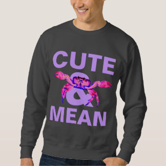 cute&mean pull over sweatshirt