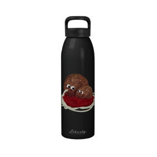 Cute Meatball Eating Spaghetti Reusable Water Bottles