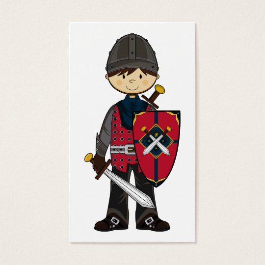 Cute Medieval Knight Bookmark Business Card