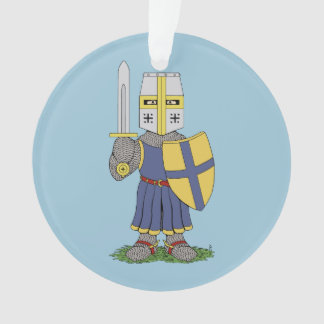 Cute Medieval Knight Ornament