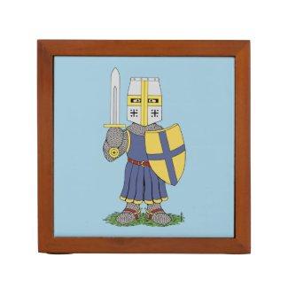Cute Medieval Knight Pencil/Pen Holder