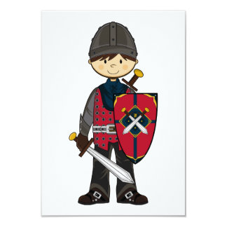 Cute Medieval Knight RSVP Card