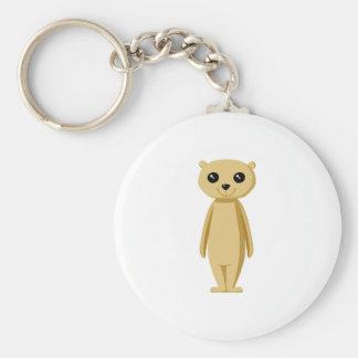 Cute Meerkat. Basic Round Button Keychain