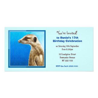 Cute Meerkat Birthday Invitation Photo Card