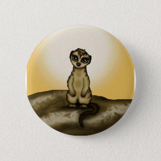cute Meerkat Button