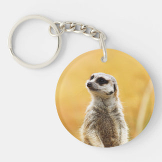 Cute Meerkat Keyring Double-Sided Round Acrylic Keychain