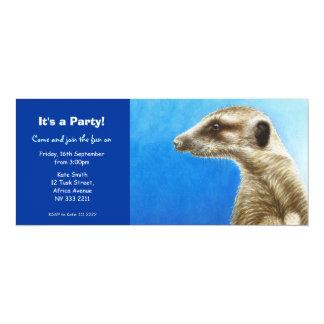Cute Meerkat Party Invitation