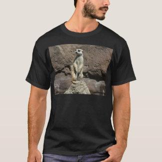 Cute Meerkat Sitting on a Mound T-Shirt