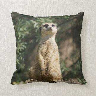 Cute Meerkat Throw Pillow