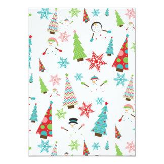 Cute Melting Snowman Funky Christmas Trees Card