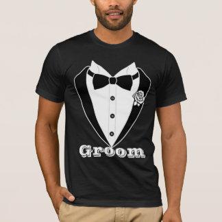 Cute Men's Suit Tuxedo Groom Personalized T-Shirt