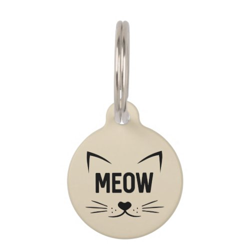 Cute Meow Personalized Cat Tag