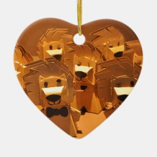 Cute merlion ceramic ornament