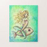 Cute Mermaid and Fish Fantasy Art Puzzles