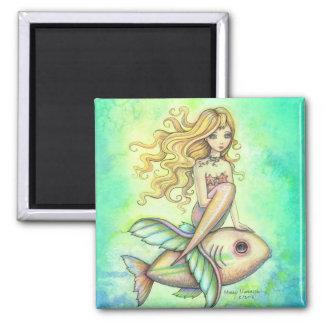 Cute Mermaid and Fish Magnet