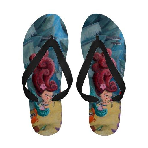 Cute Mermaid and Pirates Sandals