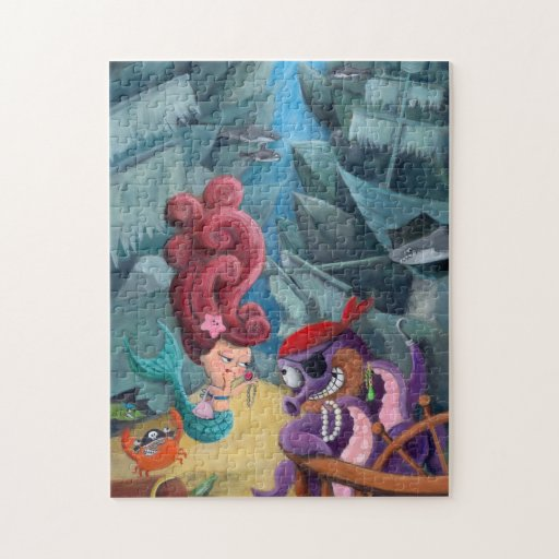 Cute Mermaid and Pirates Jigsaw Puzzles