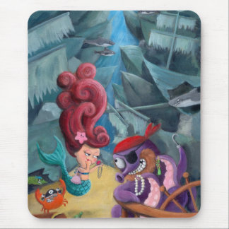 Cute Mermaid and Pirates Mouse Pads