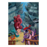 Cute Mermaid and Pirates Posters