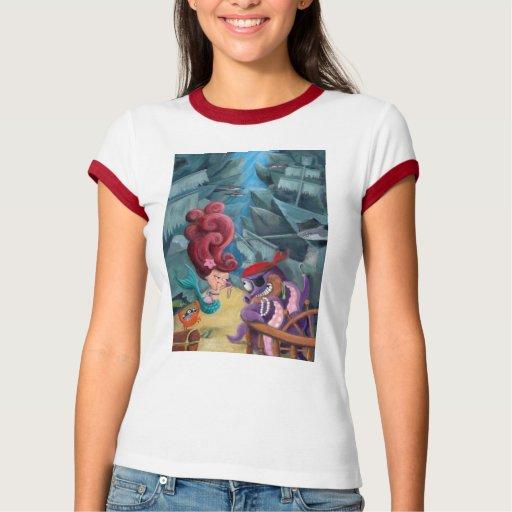 Cute Mermaid and Pirates Shirt