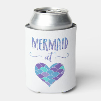 Cute Mermaid at Heart Can Can Cooler