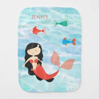 Cute Mermaid Baby Burp Cloth