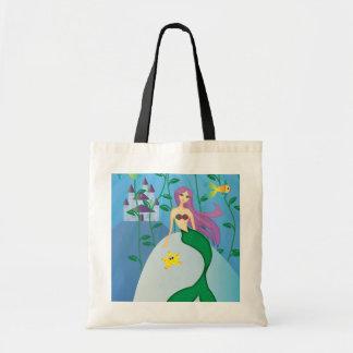 Cute Mermaid Budget Tote Bag