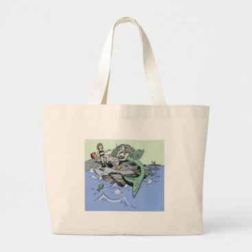 Beach Themed Cute Mermaid Beach Child Large Tote Bag