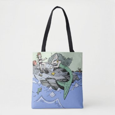 Beach Themed Cute Mermaid Beach Child Tote Bag