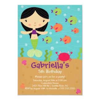Cute Mermaid Birthday Invitation