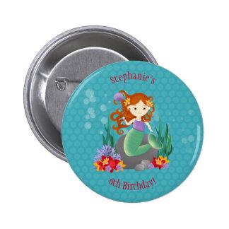 Cute Mermaid Button