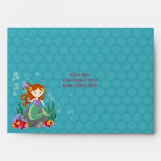 Cute Mermaid Envelope