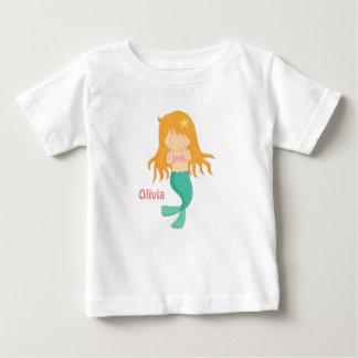 Cute Mermaid Girl For Baby Girls Baby T-Shirt