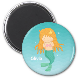 Cute Mermaid Girl Personalized Magnet