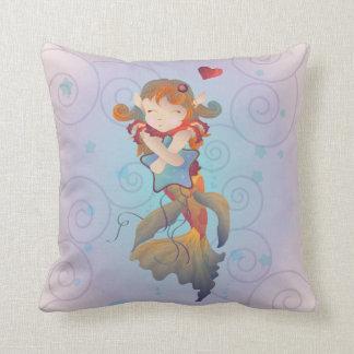 Cute Mermaid Hugging a Pillow