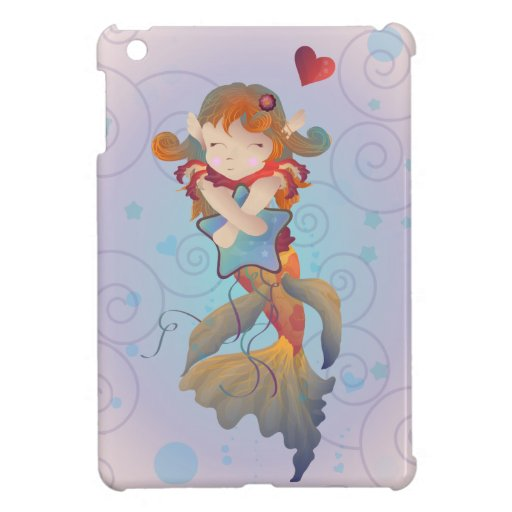 Cute Mermaid Hugging A Pillow Case For The Ipad Mini Zazzle