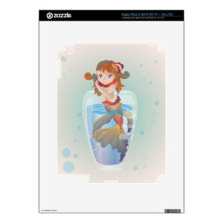 Cute Mermaid in a Glass iPad 3 Skin