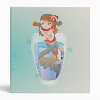 Cute Mermaid in a Glass Vinyl Binder