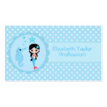 Cute Mermaid in Blue Double-Sided Standard Business Cards (Pack Of 100)
