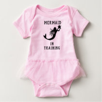 Cute Mermaid In Training Baby Bodysuit