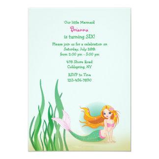Cute Mermaid Invitation