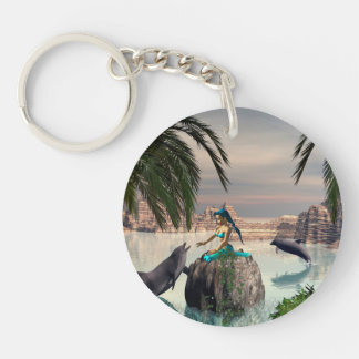 Cute Mermaid Acrylic Key Chains