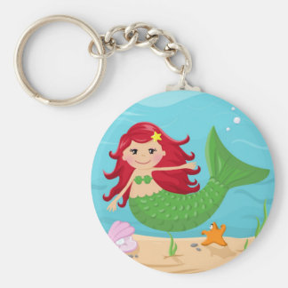 Cute mermaid keychain