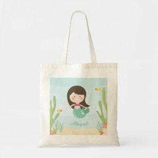Cute Mermaid Kids Tote Bag