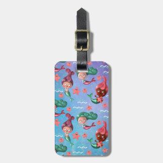 Cute Mermaid Pattern Bag Tag