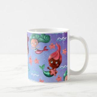 Cute Mermaid Pattern Coffee Mug