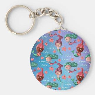 Cute Mermaid Pattern Keychain
