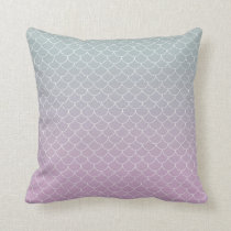 Cute mermaid pattern throw pillow